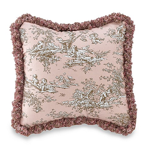 Glenna Jean Madison Toile Square Toss Pillow