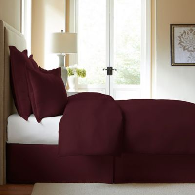 Perfect 300 Thread Count Cotton Twin Bed Skirt In Burgundy