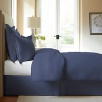 300-Thread-Count Cotton Queen Bed Skirt in Blue Jean