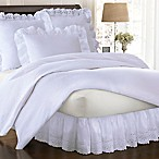 Smootheweave™ Ruffled Eyelet 14-Inch Queen Bed Skirt in White