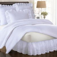 Smootheweave™ Ruffled Eyelet 18-Inch Twin Bed Skirt in White