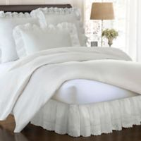 Smootheweave™ Ruffled Eyelet 18-Inch California King Bed Skirt in Ivory