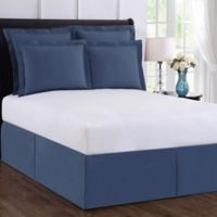 Wrap-Around Wonderskirt California King Bed Skirt in Blue
