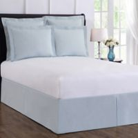 Wrap-Around Wonderskirt King Bed Skirt in Light Blue