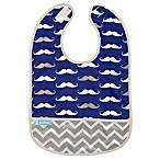 Kushies® Size 6-12M Mustache Cleanbib in Navy
