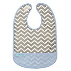 Kushies® Size 6-12M Chevron Cleanbib in Blue