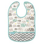 Kushies® Size 6-12M Elephants Cleanbib in White