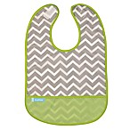 Kushies® Size 6-12M Chevron Cleanbib in Green
