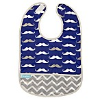 kushies® Cleanbib Size 12M+ Mustache Bib in Navy