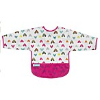 Kushies® Size 6-12M Doodle Hearts Cleanbib with Sleeves in White
