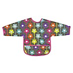 Kushies® Size 6-12M Daisies Cleanbib with Sleeves in Charcoal