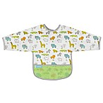 Kushies® Size 6-12M Little Safari Cleanbib with Sleeves in White