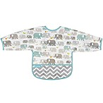 kushies® Cleanbib Size 12-24M Elephants Bib with Sleeves in White