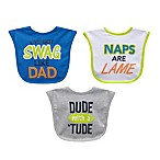 Neat Solutions Attitude 3-Piece Bib Set in Blue/Green