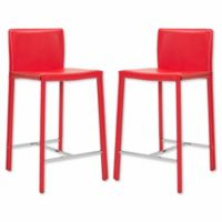 Safavieh Jason Counter Stool in Red