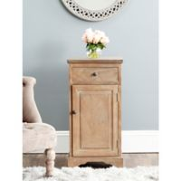 Safavieh Jett Accent Cabinet in Washed Pine