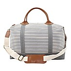 CB Station Color Weekender Bag in Grey Stripe