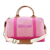 CB Station Color Weekender Bag in Hot Pink Stripe