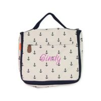 CB Station Women's Hanging Travel Kit in Navy Anchors