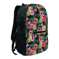 Summit Outdoor GoPak Foldable Backpack in Black Floral