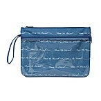 """Time to Travel"" 12-Inch Wet/Dry Waterproof Travel Bag in Blue"