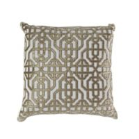 Callisto Home Trellis Accent Pillow in Cream