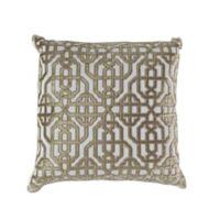 Callisto Home Trellis Accent Pillow in Cream