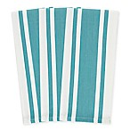 Heavyweight Striped Kitchen Towels in Caribbean Blue (Set of 3)