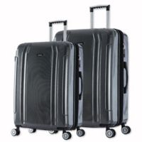 InUSA SouthWorld 2-Piece Spinner Luggage Set with 23-Inch and 27-Inch Suitcases in Dark Grey