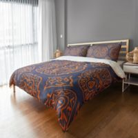 Boho King Duvet Cover in Orange/Purple