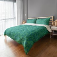 Boho King Duvet Cover in Teal