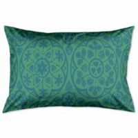 Boho King Pillow Sham in Teal