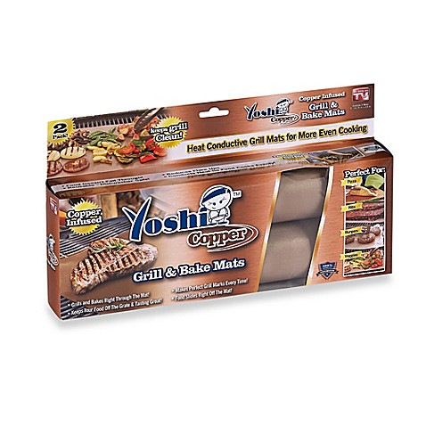 Yoshi Copper Grill And Bake Mats Set Of 2 Bed Bath