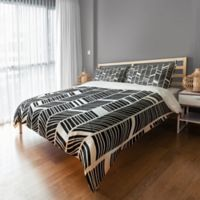 Chevron King Duvet Cover in Black/White