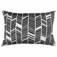 Chevron King Pillow Sham in Black/White