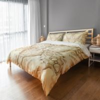 Kaleidoscope King Duvet Cover in White/Beige