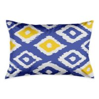 Designs Direct Classic Diamond Ikat King Pillow Sham in White/Blue/Yellow