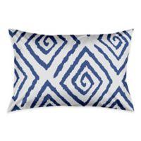 Geometric King Pillow Sham in Blue/White