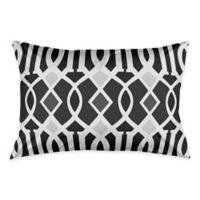 Kirkwood Ikat King Pillow Sham in Black/White