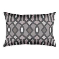 Kirkwood Ikat King Pillow Sham in Grey/White