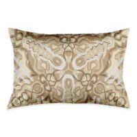 Kaleidoscope King Pillow Sham in White/Beige