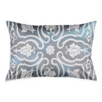 Medallion Watercolor Tile King Pillow Sham in Grey/White