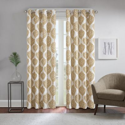 Excellent Gold Window Curtain Panels From Bed Bath Beyond Mu45