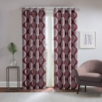 Regency Heights® Zion 108-Inch Grommet Top Room Darkening Window Curtain Panel in Burgundy