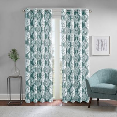 Regency Heights® Zion 84 Inch Grommet Top Room Darkening Window Curtain  Panel In Teal