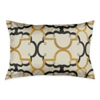 Interlocking Quatrefoil King Pillow Sham in Black/Gold