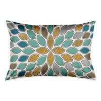 Petals Standard Pillow Sham in Blue/Teal/Gold