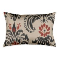 Renaissance Ikat King Pillow Sham in Red/Black