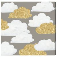 Olivia's Easel Gold Clouds 43-Inch x 43-Inch Canvas Wall Art