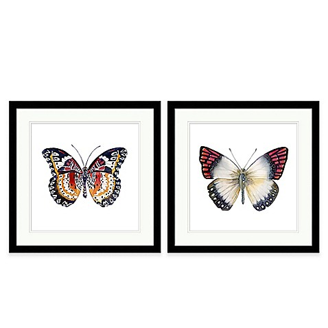 butterfly extra large framed wall art bed bath beyond. Black Bedroom Furniture Sets. Home Design Ideas